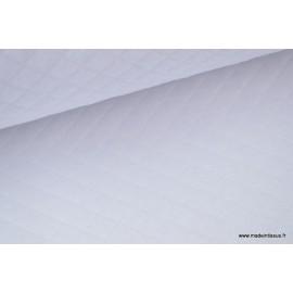 Tissu Jersey coton matelassé 1x1 blanc .x1m