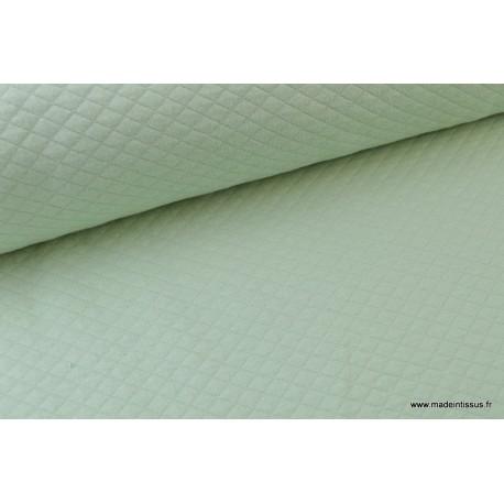 Jersey coton matelassé 1x1 Menthe x50cm
