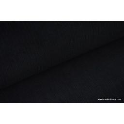 Tissu velours côtelé coton noir x50cm