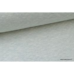 Tissu Jersey coton matelassé 1x1 Menthe mélangé .x1m