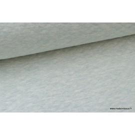 Jersey coton matelassé 1x1 Menthe mélangé x50cm