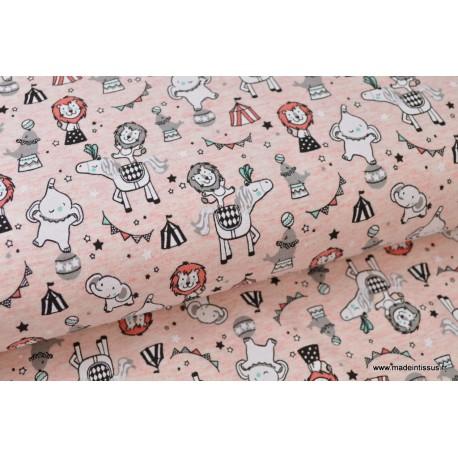 Jersey imprimé CIRCUS ROSE x50 cm