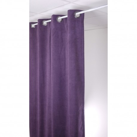 rideau isolant thermique 140x260 pret poser violet made in tissus. Black Bedroom Furniture Sets. Home Design Ideas