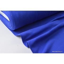 Jersey molleton fantaisie cosy bleu roi  .x1m