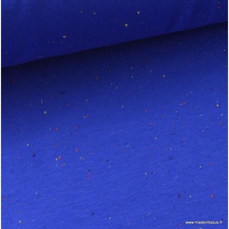 Jersey molleton fantaisie cosy bleu roi  x50cm