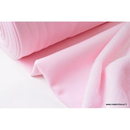 Sweat envers doudou rose  x50cm