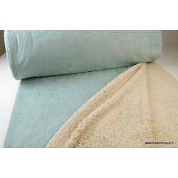 Tissu Suedine lourde envers mouton menthe .x1m