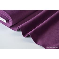 Tissu velours côtelé coton violet/prune .x1m