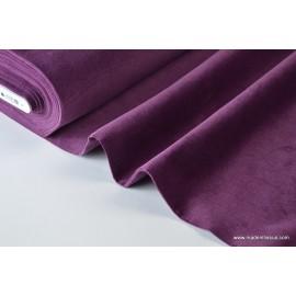 Tissu velours côtelé coton violet/prune x50cm