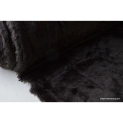 Tissu Véritable Fausse Fourrure marron  .x1m