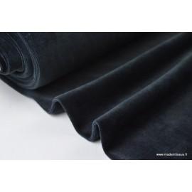 Tissu velours rasé pyjamas nicky Noir .x1m