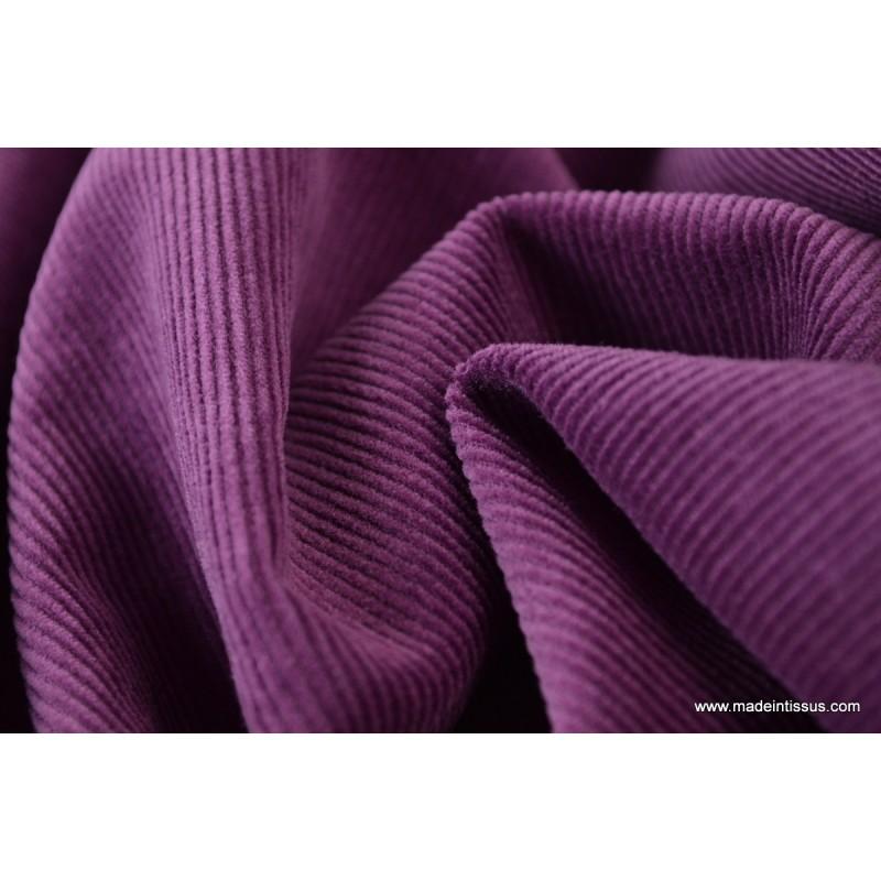Tissu velours c tel coton violet prune x50cm made in tissus for Set de table coton