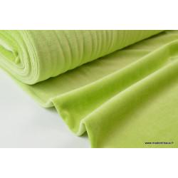 Tissu velours rasé pyjamas nicky Vert Anis .x1m