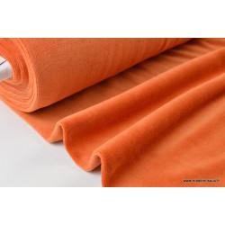 Tissu velours rasé pyjamas nicky Rouille .x1m