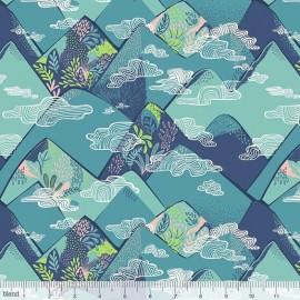 Coton imprimé Montagnes nuageuses by Blend Fabrics x25cm
