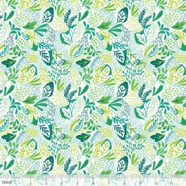 Coton imprimé Jungle vert et canard by Blend Fabrics .x1m
