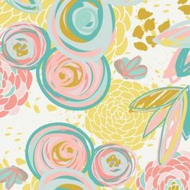 Popeline coton prenium imprimé grosses fleurs  by Art Gallery Fabrics .x1m