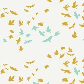 Popeline coton prenium imprimé oiseaux by Art Gallery Fabrics x25cm