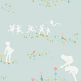 Popeline coton prenium imprimé enfants qui jouent by Art Gallery Fabrics x25cm