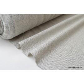 Natté coton Laine gris et blanc X50CM