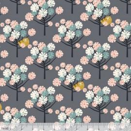 Coton imprimé cerisiers Japonais rose et menthe by Blend Fabrics .x1m