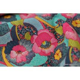 Tissu cretonne coton Hawai x50cm