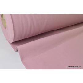 Tissu demi natté coton grande largeur VIEUX ROSE .x 1m