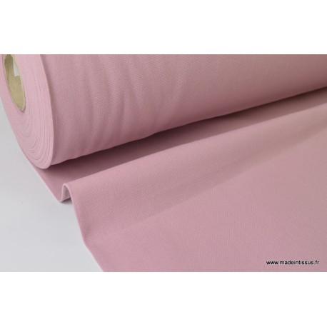 Tissu demi natté coton grande largeur VIEUX ROSE x50cm