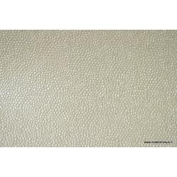 Tissu Faux cuir BUBBLES Ivoire .x1m