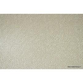 Faux cuir BUBBLES Ivoire x50cm