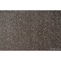 Tissu Faux cuir BUBBLES Acier .x1m