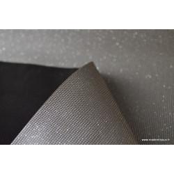Tissu Faux cuirs à paillettes ARGENT .x1m