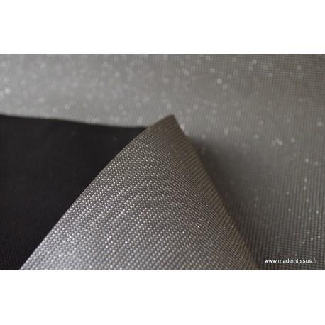 Faux cuirs à paillettes ARGENT x50cm