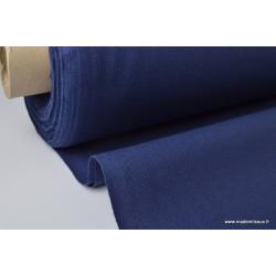 Tissu demi natté coton grande largeur BLEU MARINE .x 1m