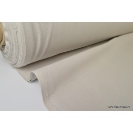 Tissu demi natté coton grande largeur GRIS PERLE .x 1m