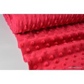 Tissu minky POIS ROUGE .x1m