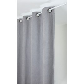 Rideau isolant thermique 140x260 pret à poser gris clair