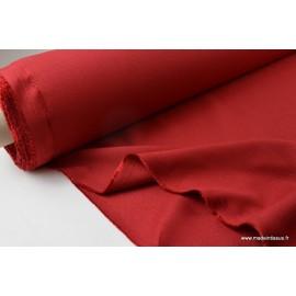 Tissu demi natté polyester rouge 270 .x 1m
