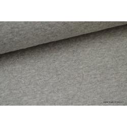 Tissu Jersey coton matelassé 1x1 gris mélangé .x1m