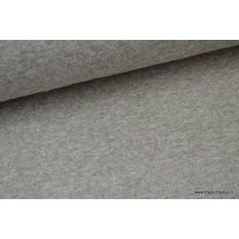 Jersey coton matelassé 1x1 gris mélangé x50cm