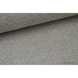 Jersey coton matelassé 1x1 gris mélangé .x1m
