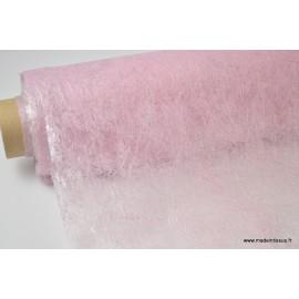 Non tissé nacré paillette déco rose 160 x 50cm
