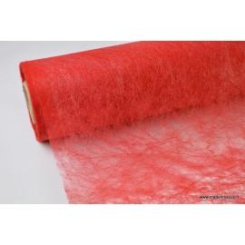 Non tissé nacré paillette déco rouge 160 x 50cm