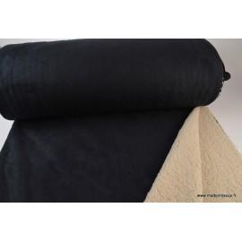 Suedine lourde envers mouton noir x50cm
