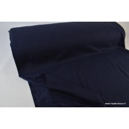 Tissu Sweat doudou bleu marine