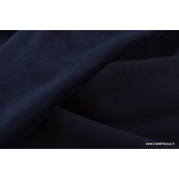 Tissu sweat envers minky coloris bleu marine