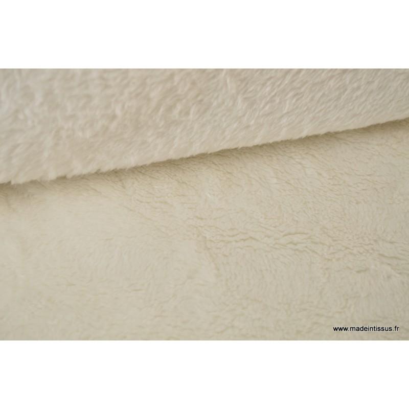tissu doudou double face ivoire pais x 50 cm. Black Bedroom Furniture Sets. Home Design Ideas
