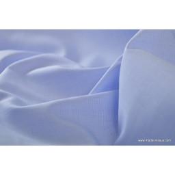 Tissu coton chemise bleu ciel pour confection