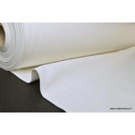 Tissu demi natté coton grande largeur blanc x 1m