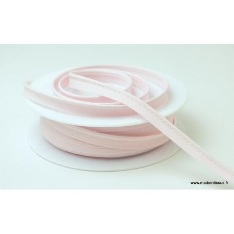 Passepoil 10 mm coton Rose clair
